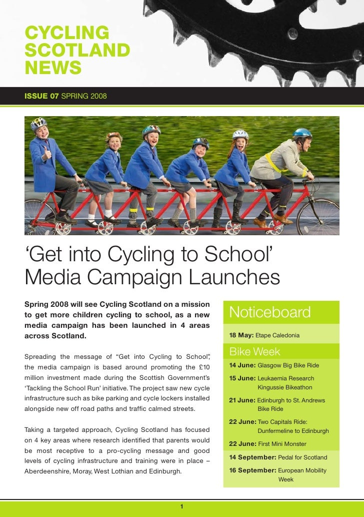 Cycling Scotland Newsletter Spring 2008