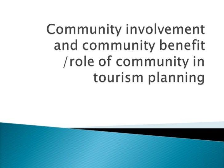Community Involvement in Tourism