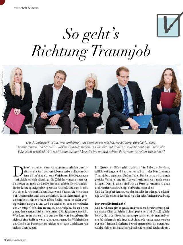 wirtschaft & finanz  Foto: contrastwerkstatt/Fotolia.com  So geht's Richtung Traumjob  Der Arbeitsmarkt ist schwer umkämpf...