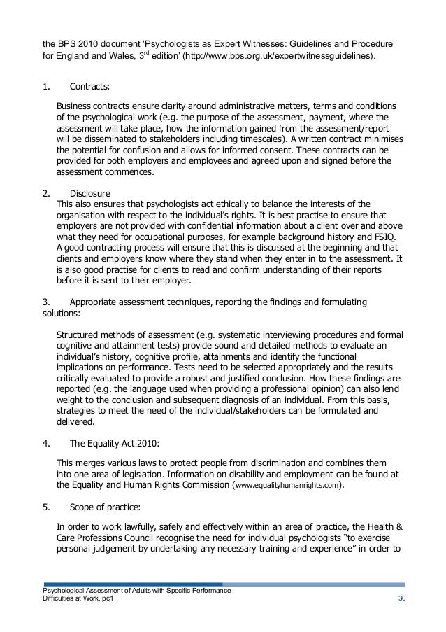 psychological testing in the workplace essays Excerpt from essay : industrial and organizational psychology individual psychological testing in the workplace faced with an ever increasing competitive business environment, many employers.