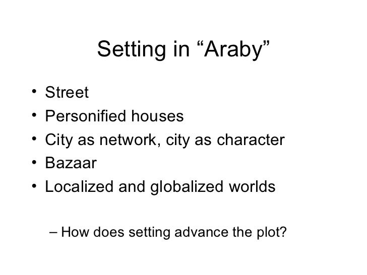 Thesis statement for araby