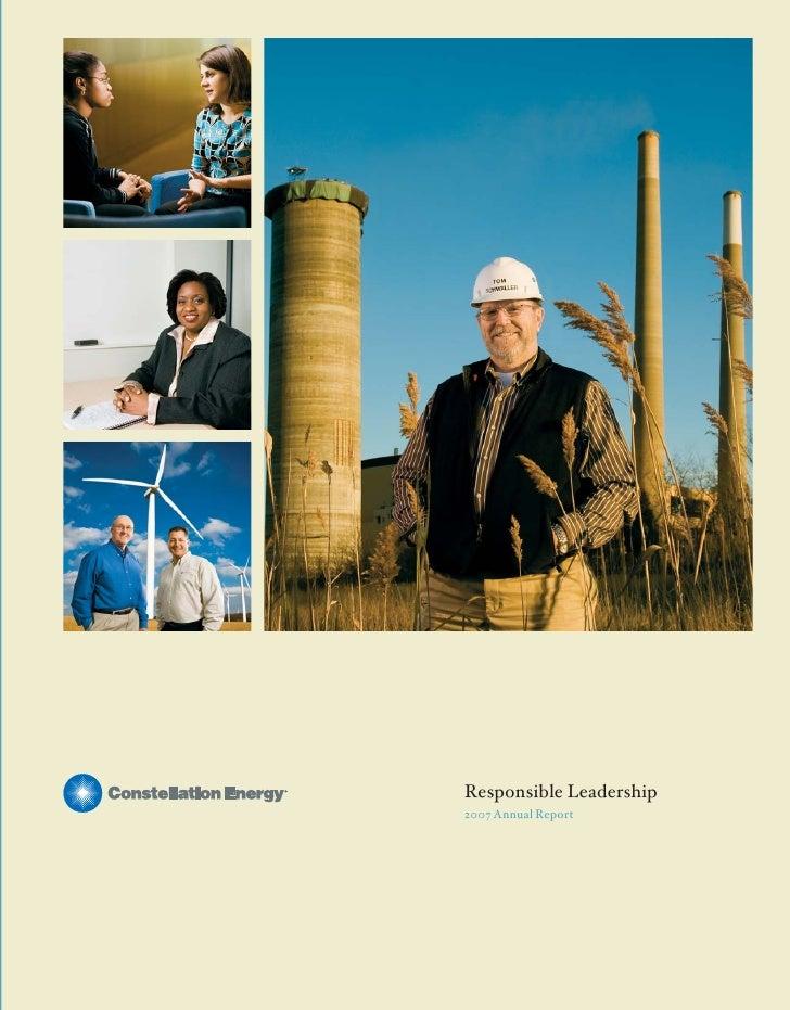 Responsible Leadership                                                                                           2007 Annu...