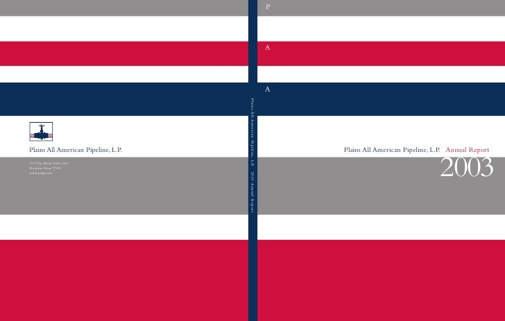 plains all american pipeline  Annual Reports 2003