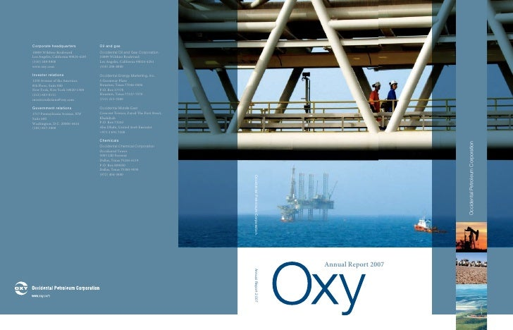 occidental petroleum 2007 Annual Report to Stockholders