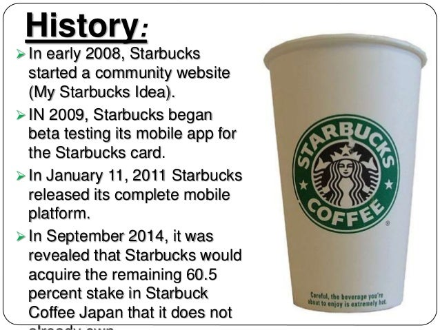 starbucks coffee a case study