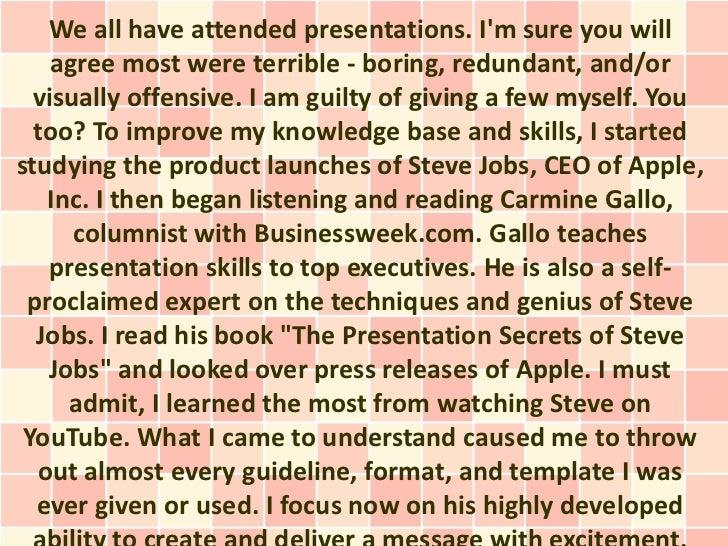 Creating Awe-Inspiring Presentations
