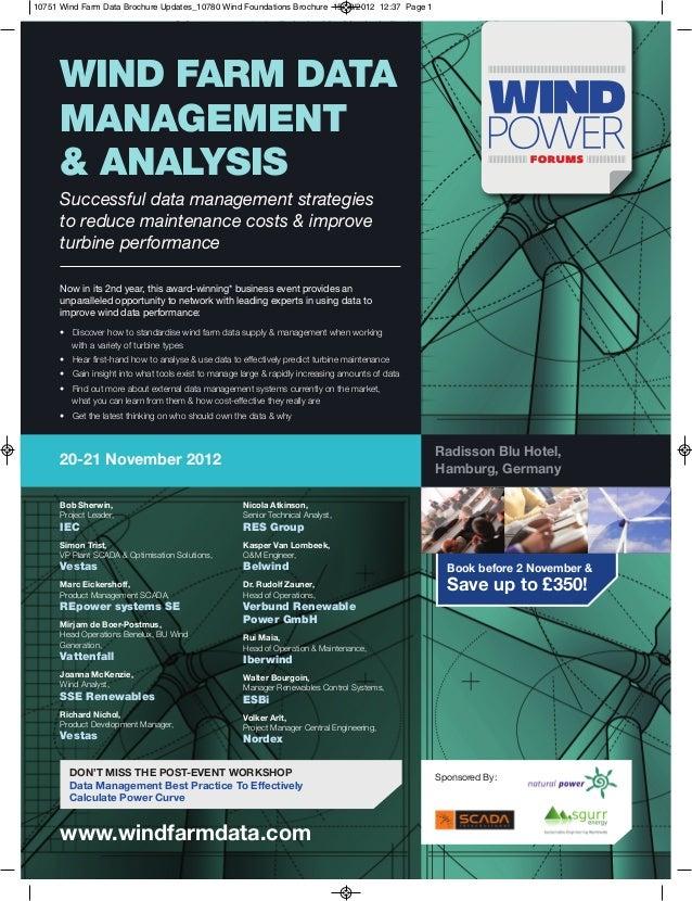 Wind Farm Data Management & Analysis 2012
