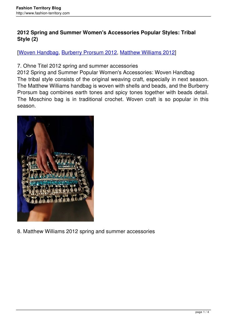 Fashion Territory Bloghttp://www.fashion-territory.com2012 Spring and Summer Womens Accessories Popular Styles: TribalStyl...