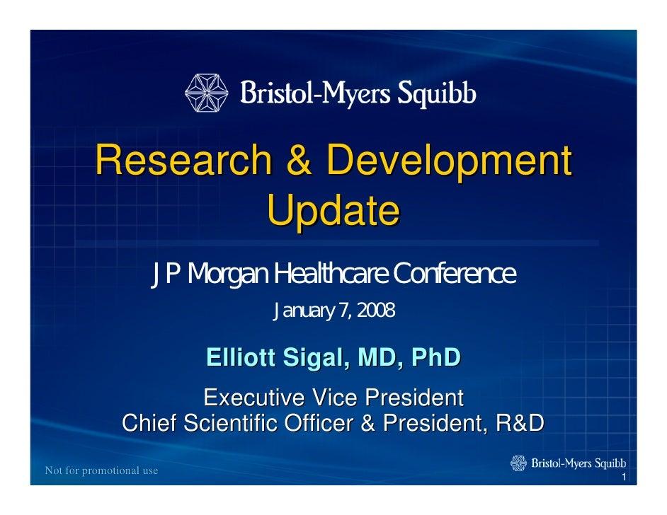 Research & Development                  Update                      JP Morgan Healthcare Conference                       ...