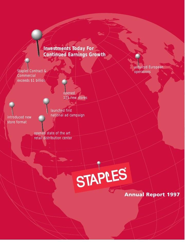 staples Annual Report 1997