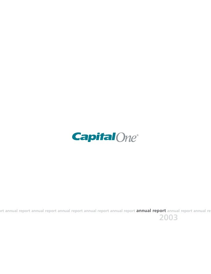 capital one  Annual Report2003
