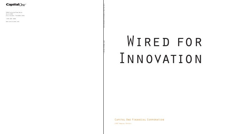 Wired for    Innovation   Capital One Financial Corporation 1997 Annual Report