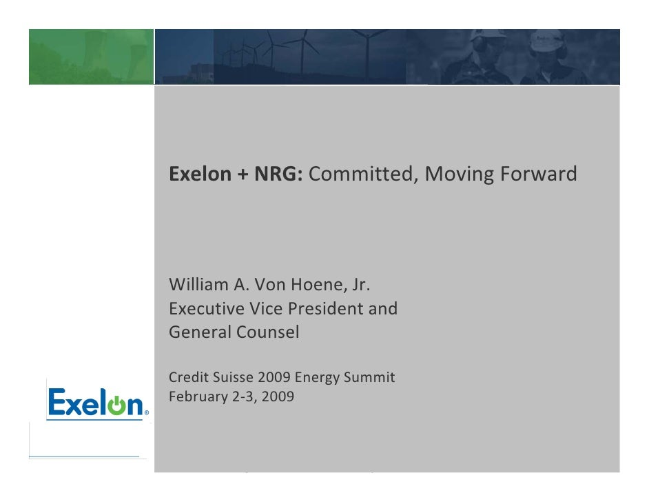 Exelon Corporation at Credit Suisse Group Energy Summit