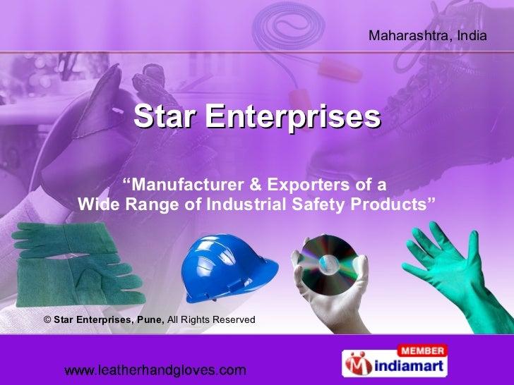 "Star Enterprises "" Manufacturer & Exporters of a  Wide Range of Industrial Safety Products"" ©  Star Enterprises, Pune,  Al..."