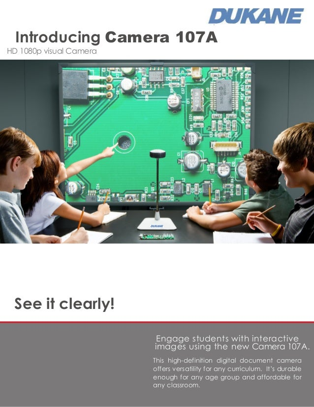 See it clearly! Engage students with interactive images using the new Camera 107A. This high-definition digital document c...