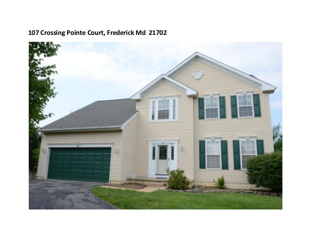 Crossing Pointe Ct Frederick Md 21702 - Currently Off Market