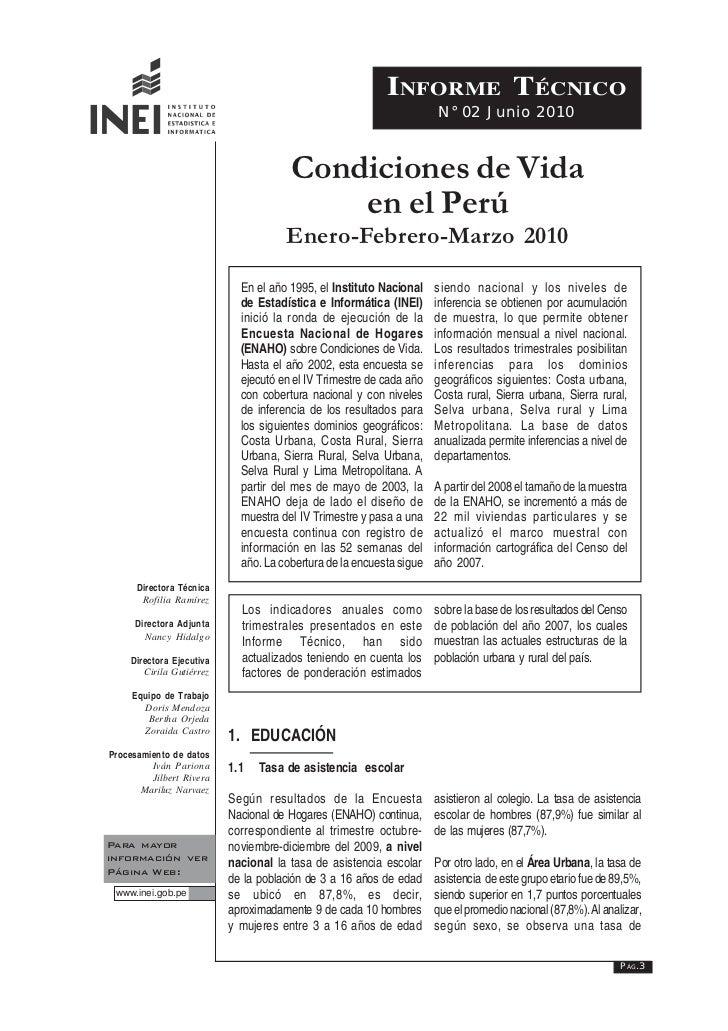 INFORME TÉCNICO                                                                      N° 02 Junio 2010                     ...