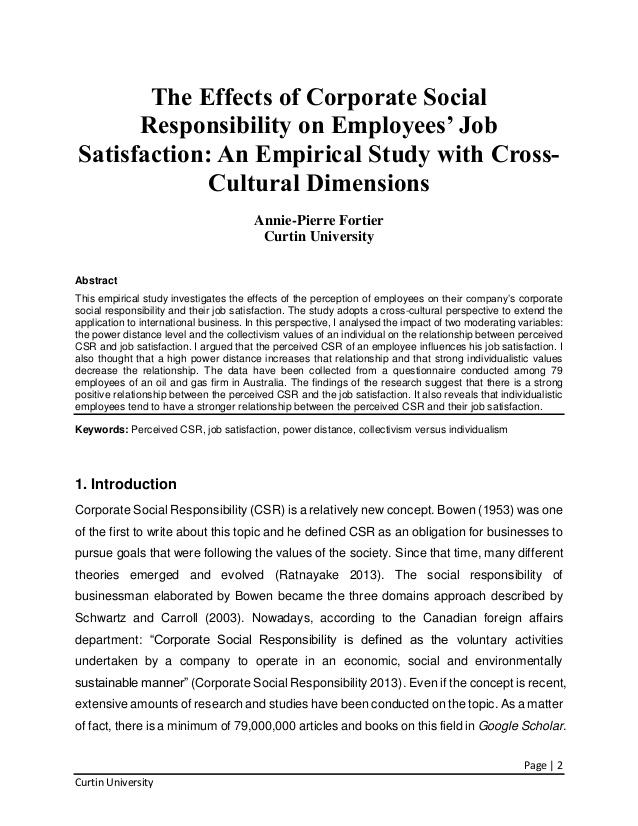 Corporate Social Responsibility: Strategic Implications