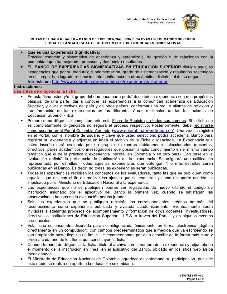 Ministerio de Educación Nacional                                                                            República de C...