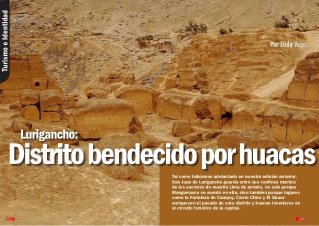 San Juan de Lurigancho distrito bendecido por huacas