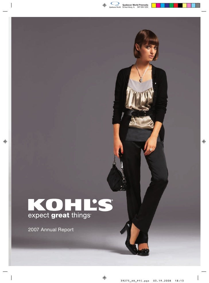 kohl's annual reports 2007