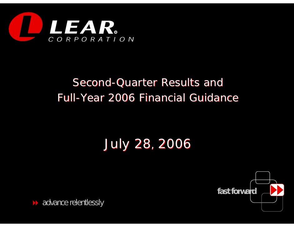 LEAR Q2 06