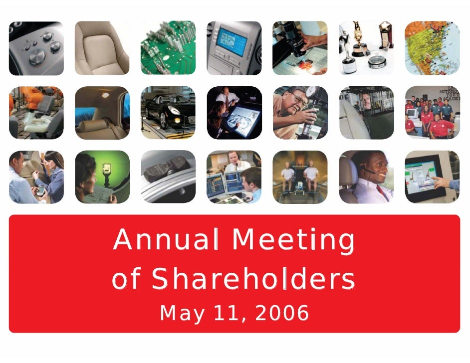 Annual Meeting of Shareholders   May 11, 2006