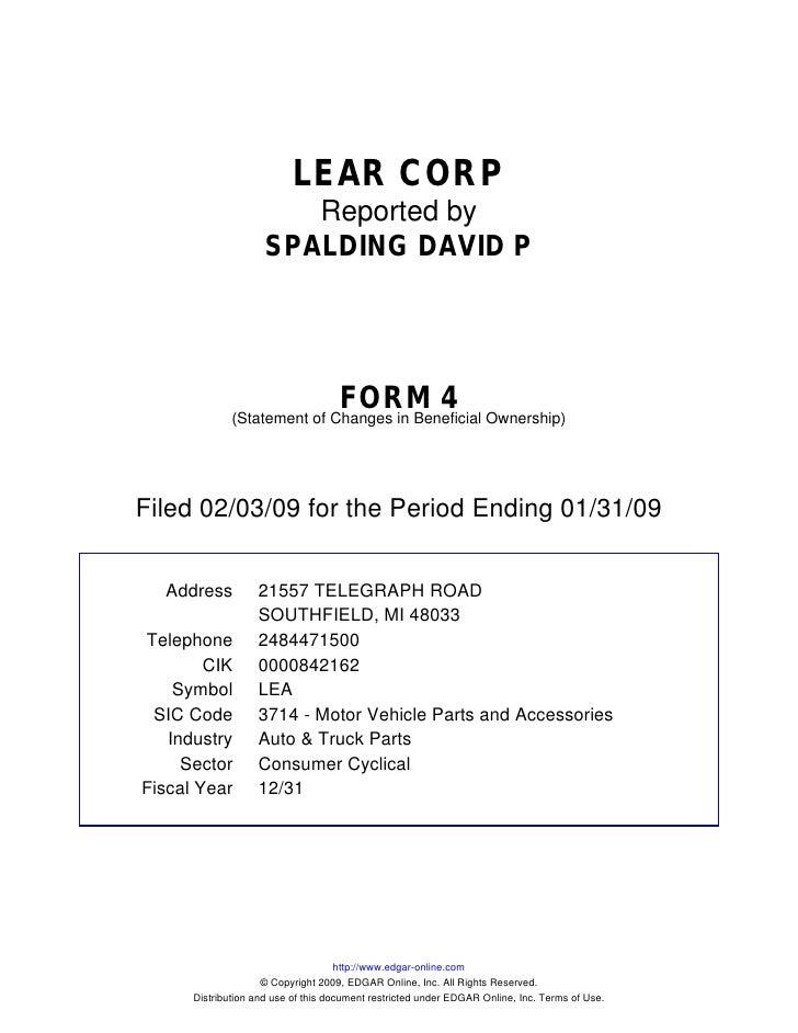 lear SEC Filings 17