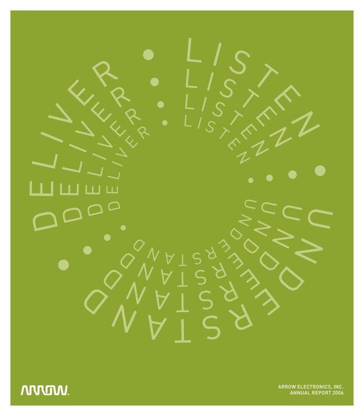 arrow electronics annual reports 2006