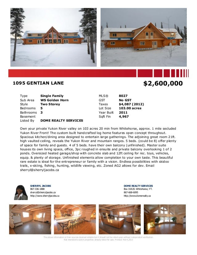 1095 gentian lane  mls 8027 - yrea feb 4, 2013