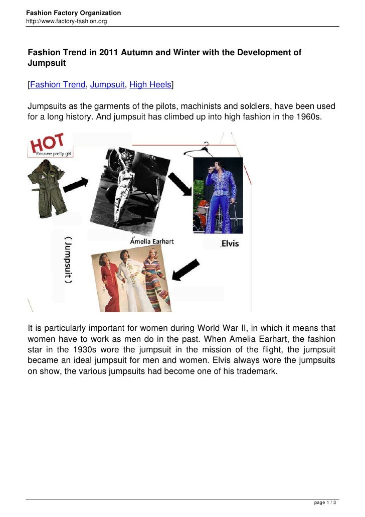 Fashion Trend in 2011 Autumn and Winter with the Development of Jumpsuit