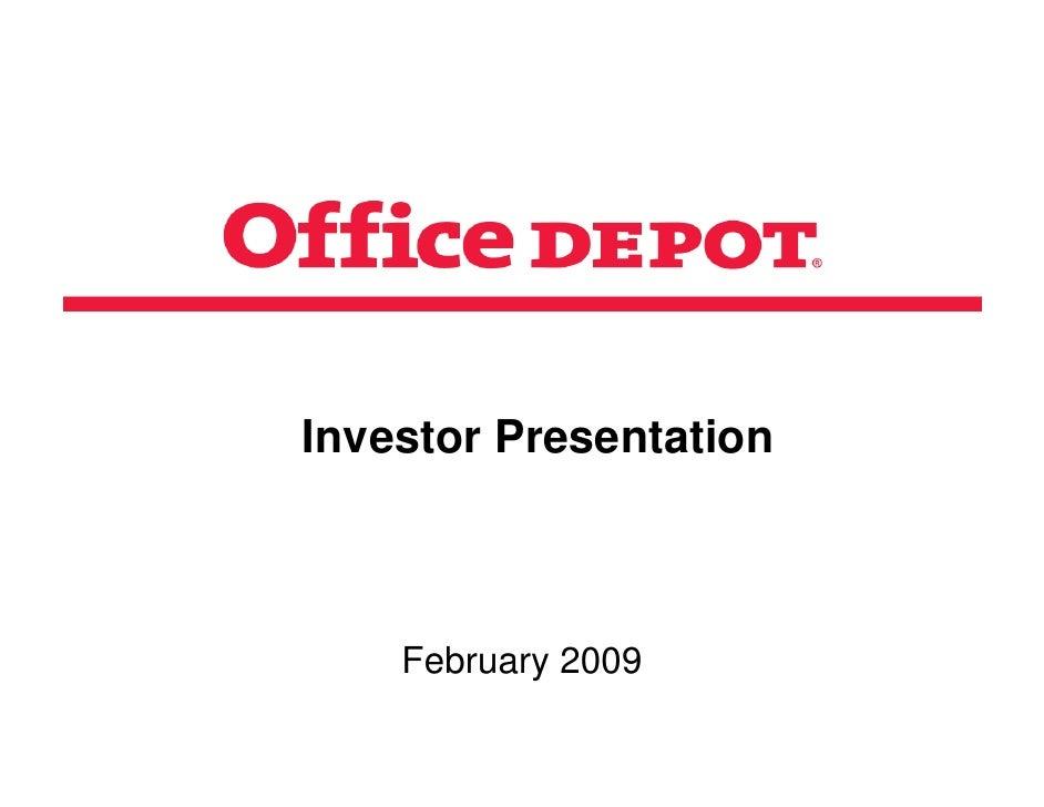 Investor Presentation        February 2009