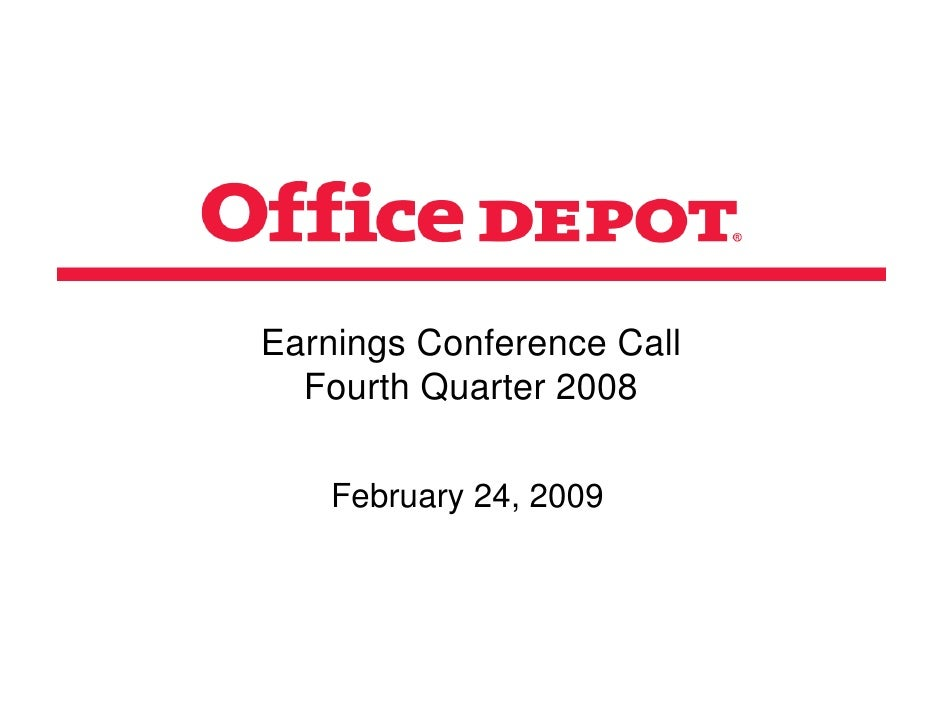 Earnings Conference Call   Fourth Quarter 2008      February 24, 2009