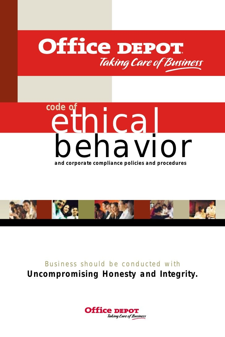 code of      ethical      behavior      and corporate compliance policies and procedures        Business should be conduct...