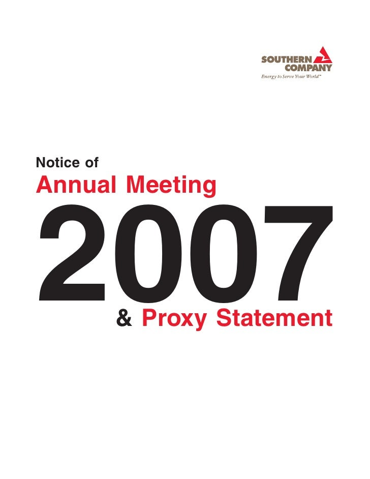 Notice of Annual Meeting    2007        & Proxy Statement