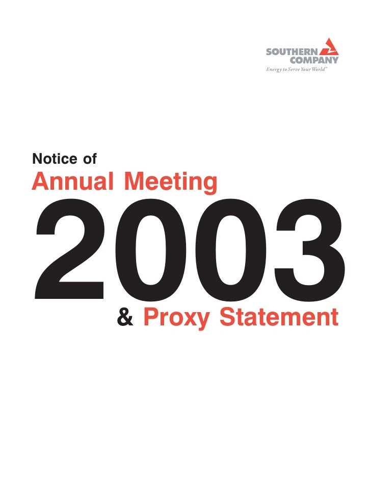7APR200317403205     Notice of Annual Meeting    2003        & Proxy Statement