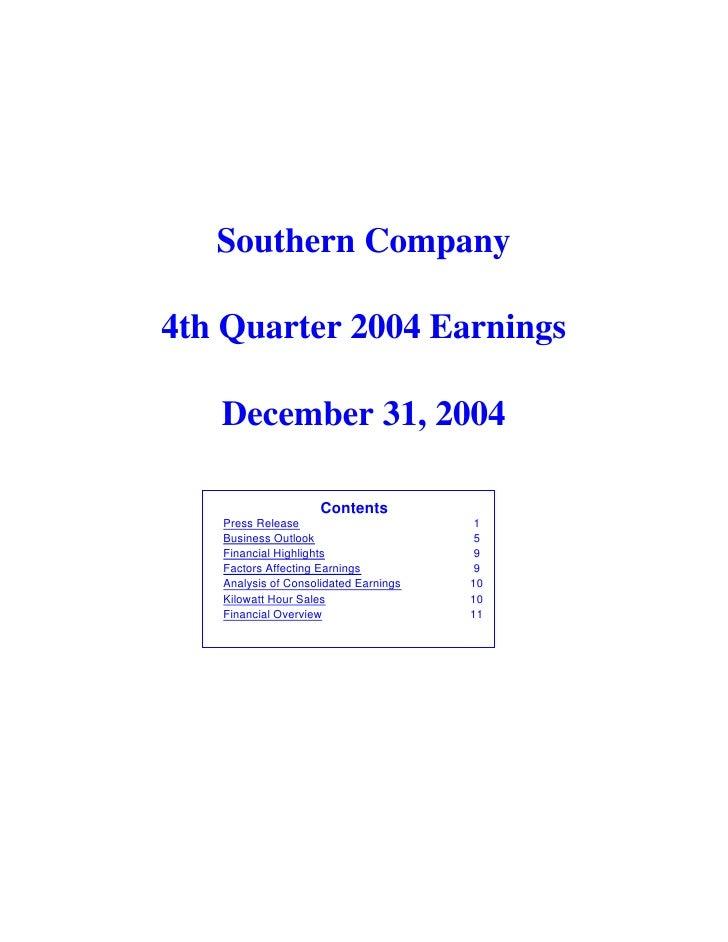 southern 2004 4th