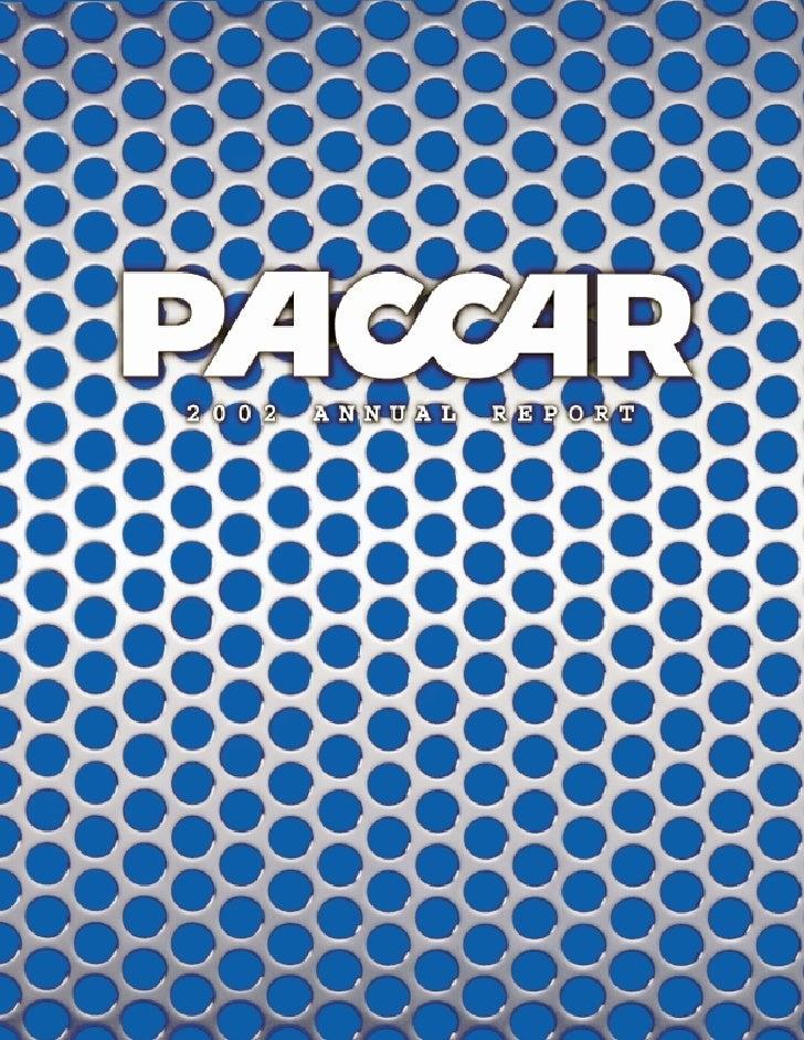 PACCAR 02 paccarannual report