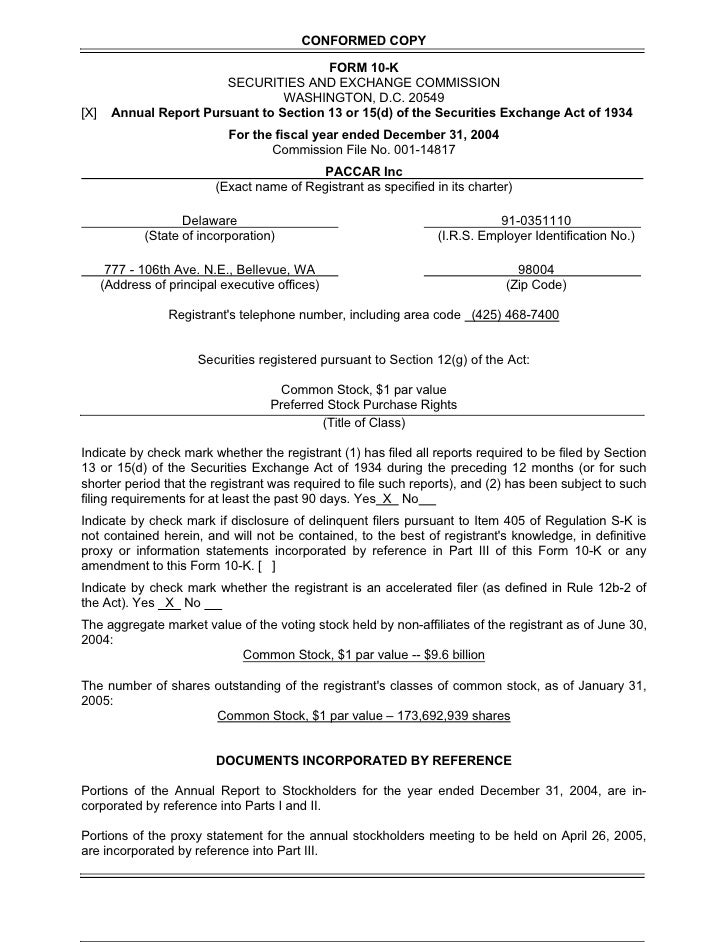 CONFORMED COPY                                            FORM 10-K                          SECURITIES AND EXCHANGE COMMI...