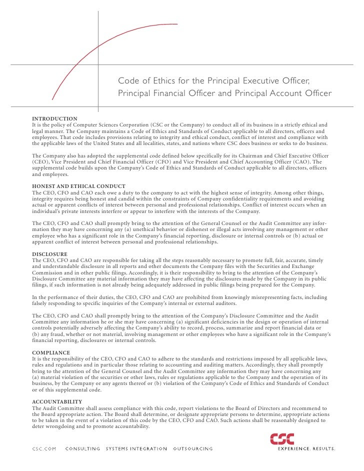 Code of Ethics for the Principal Executive Officer,                                      Principal Financial Officer and P...