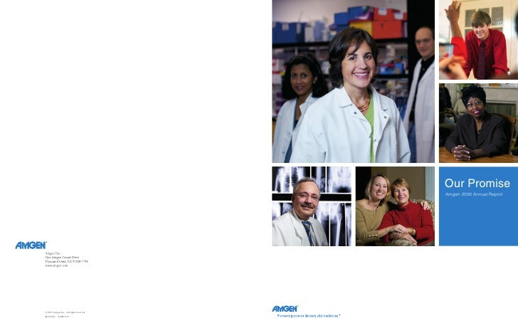 Our Promise Amgen 2006 Annual Report