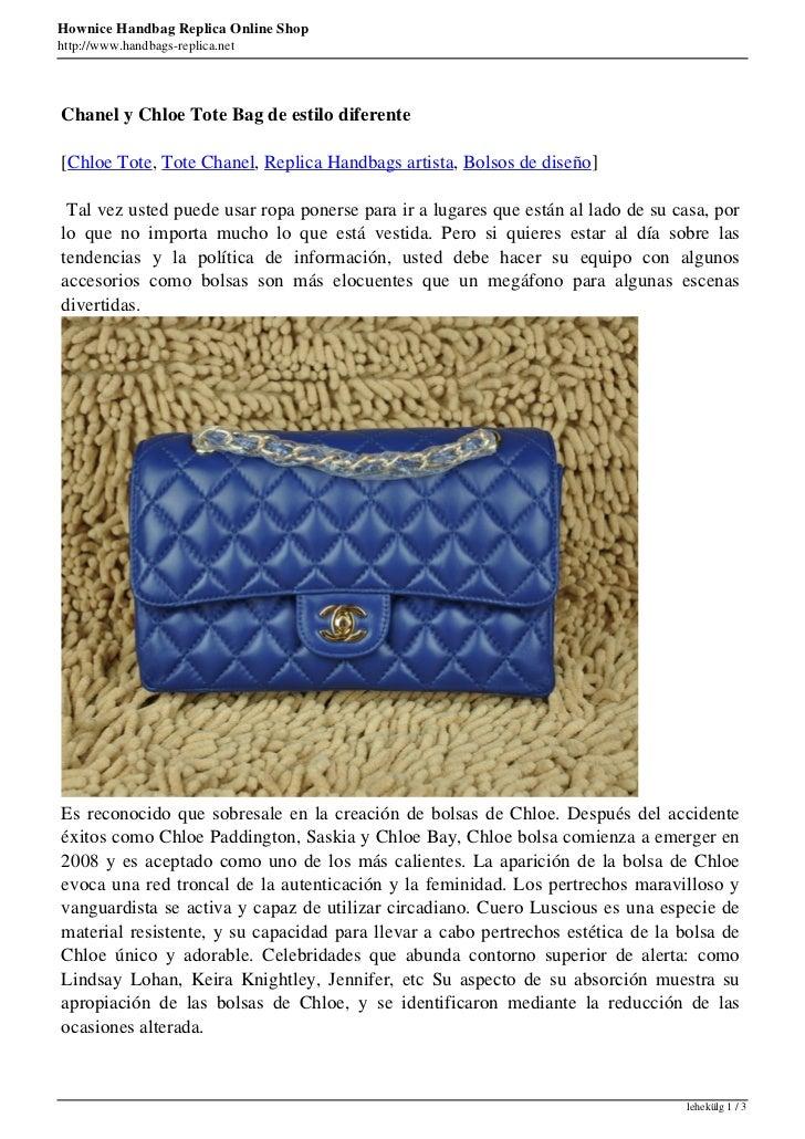 Hownice Handbag Replica Online Shophttp://www.handbags-replica.netChanel y Chloe Tote Bag de estilo diferente[Chloe Tote, ...