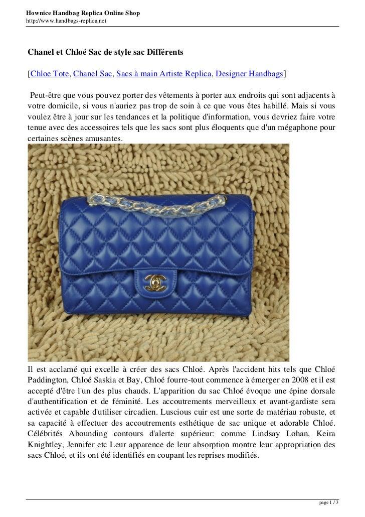 Hownice Handbag Replica Online Shophttp://www.handbags-replica.netChanel et Chloé Sac de style sac Différents[Chloe Tote, ...