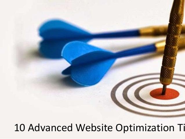 10 advanced website optimization tips