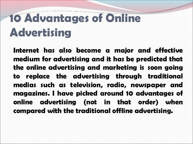 advantages and disadvantages of advertisements