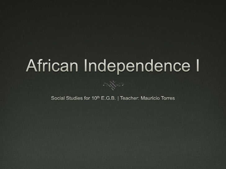 African Independence I
