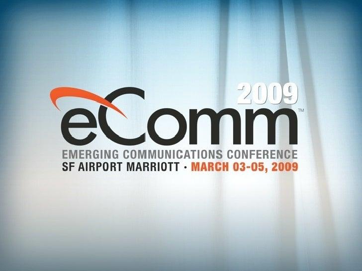 Amir Zmora's Presentation at eComm 2009