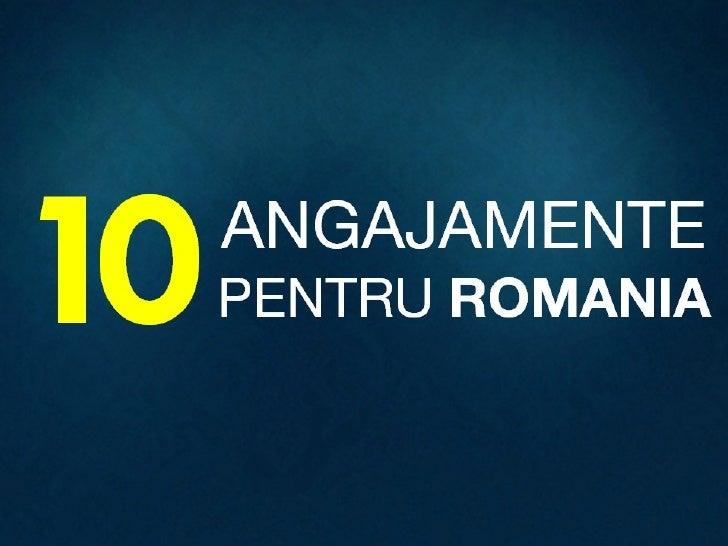 10 Angajamente pentru Romania