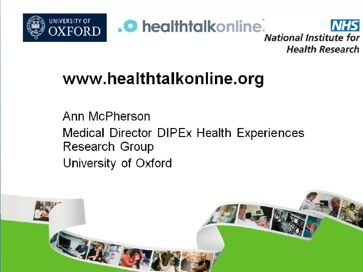 Healthtalkonline.org - Ann McPherson