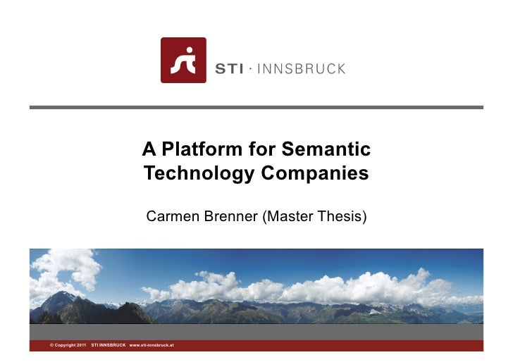 A Platform for Semantic                                      Technology Companies                                        C...
